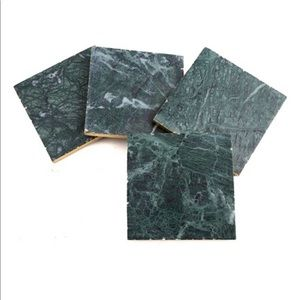 Set of 4 Green Marble Coasters